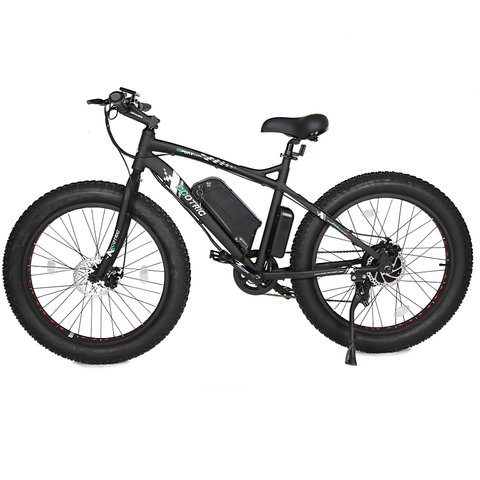 Ecotric Electric Bikes Matte Black Ecotric Fat Tire Beach Snow Electric Bike FAT26S900USB