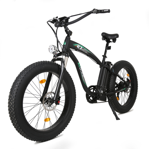 Ecotric Electric Bikes Matte Black Ecotric Hammer Fat Tire Beach Snow Electric Bike HAMMERUSB