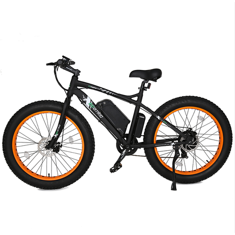 Ecotric Electric Bikes Orange Ecotric Fat Tire Beach Snow Electric Bike FAT26S900USB