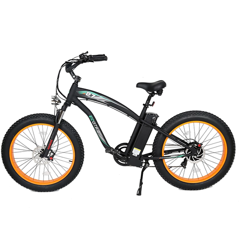 Ecotric Electric Bikes Orange Ecotric Hammer Fat Tire Beach Snow Electric Bike HAMMERUSB