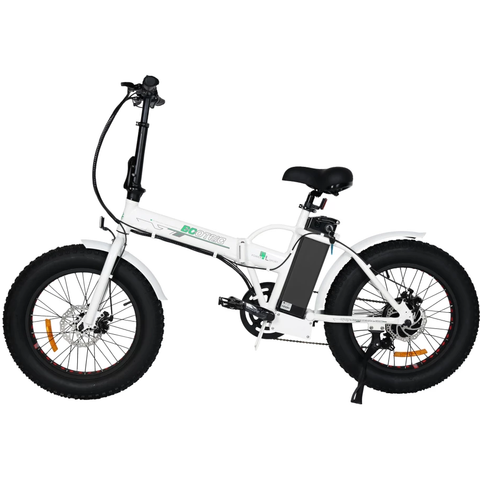 Ecotric Electric Bikes White Ecotric Fat Tire Portable & Folding Electric Bike FAT20810