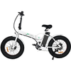 Image of Ecotric Electric Bikes White Ecotric Fat Tire Portable & Folding Electric Bike FAT20810