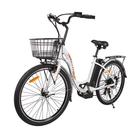 Ecotric Electric Bikes White Ecotric Peacedove Electric City Bike