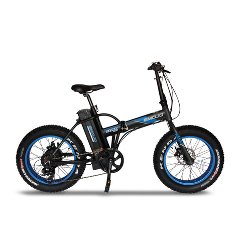 "Emojo Electric Bikes Black Blue / Pre Order (Estimated Ship Date: 15 July 2021) Emojo Lynx Pro Ultra 48V 500W 20"" Folding Electric Bike"