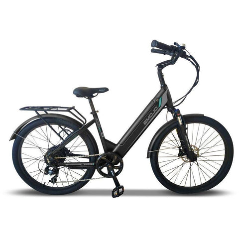 Emojo Electric Bikes Black Emojo Panther Pro 48V 500W Fat Tire Electric Bike