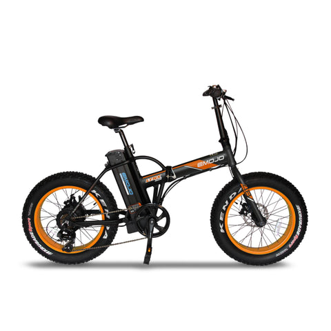 "Emojo Electric Bikes Black Orange / Pre Order (Estimated Ship Date: 15 July 2021) Emojo Lynx Pro Ultra 48V 500W 20"" Folding Electric Bike"