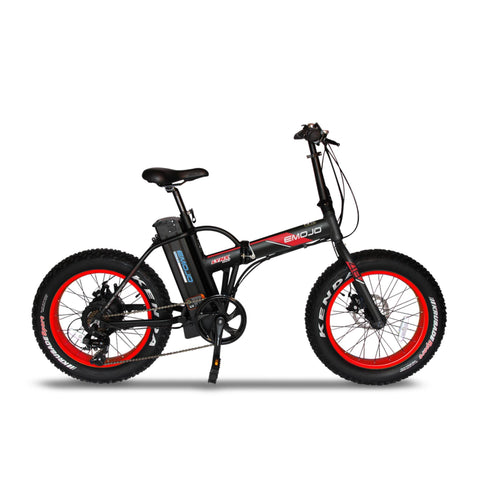 "Emojo Electric Bikes Black Red / Pre Order (Estimated Ship Date: 15 July 2021) Emojo Lynx Pro Ultra 48V 500W 20"" Folding Electric Bike"