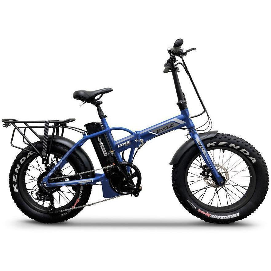 "Emojo Electric Bikes Matt Blue Emojo Lynx Pro Ultra 48V 750W 20"" Folding Electric Bike"