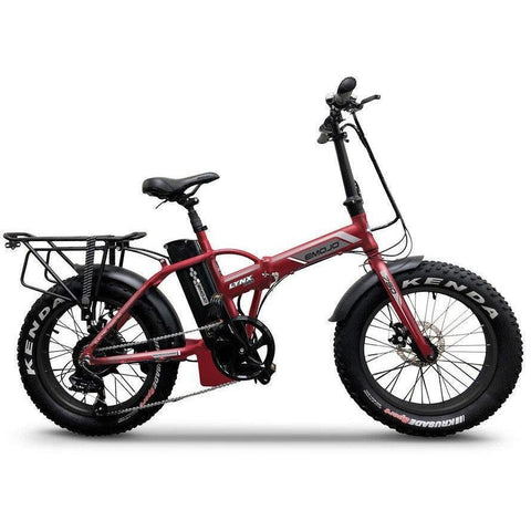 "Emojo Electric Bikes Matt Red Emojo Lynx Pro Ultra 48V 750W 20"" Folding Electric Bike"