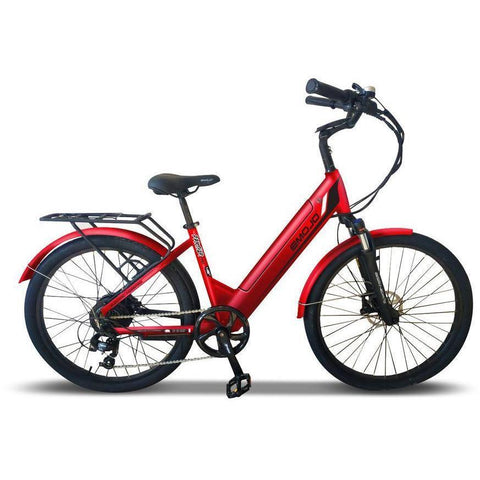 Emojo Electric Bikes Matte Red Emojo Panther Pro 48V 500W Fat Tire Electric Bike
