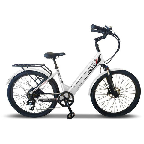 Emojo Electric Bikes White Emojo Panther Pro 48V 500W Fat Tire Electric Bike