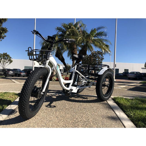 Emojo Electric Trikes White Emojo Caddy 48V 500W Electric Trike Fat Tire