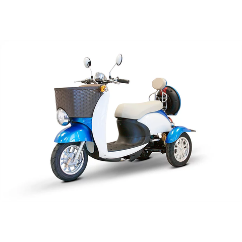 EWheels Mobility Scooters EW-11 / Blue & White EWheels EW-11 Three Wheel Mobility Scooter
