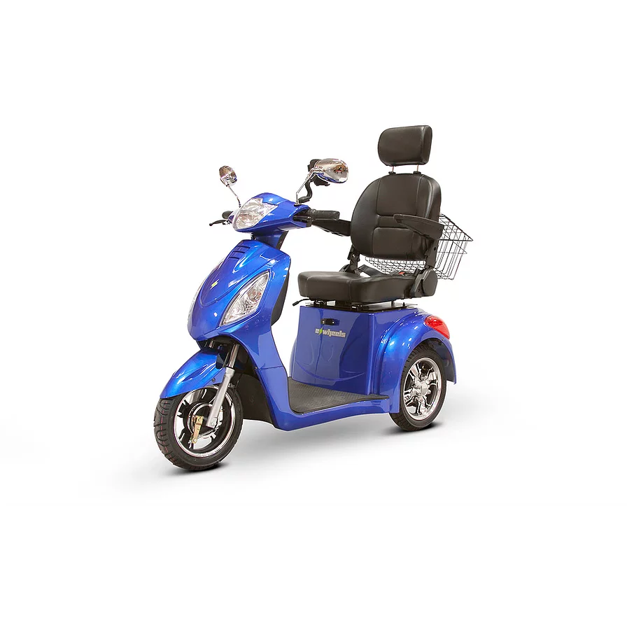 EWheels Mobility Scooters EW-36 Elite / Blue EWheels EW-36 Elite Three Wheel Mobility Scooter
