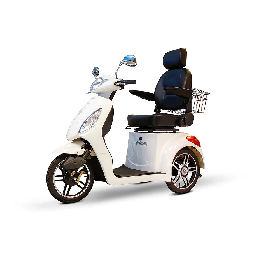 EWheels Mobility Scooters EW 36 Elite / White EWheels EW-36 Elite Three Wheel Mobility Scooter