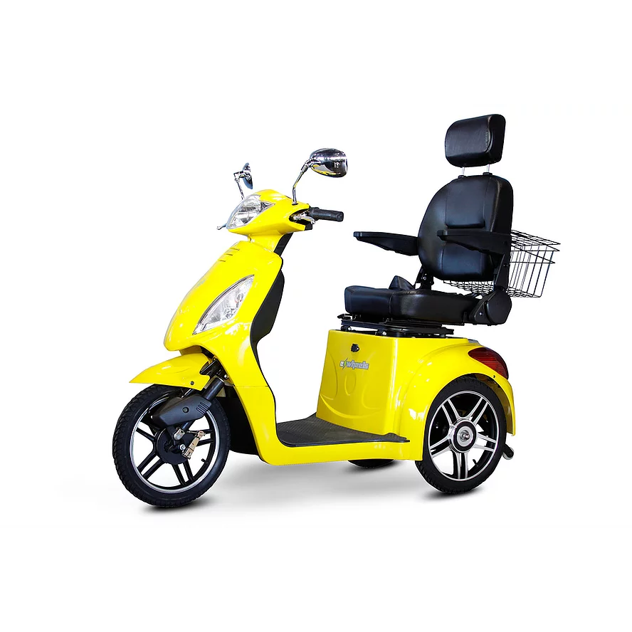 EWheels Mobility Scooters EW-36 Elite / Yellow EWheels EW-36 Elite Three Wheel Mobility Scooter