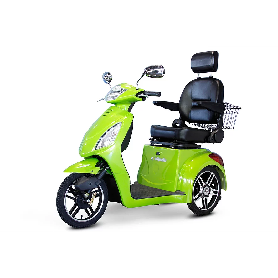 EWheels Mobility Scooters EW-36 / Green EWheels EW-36 Three Wheel Mobility Scooter
