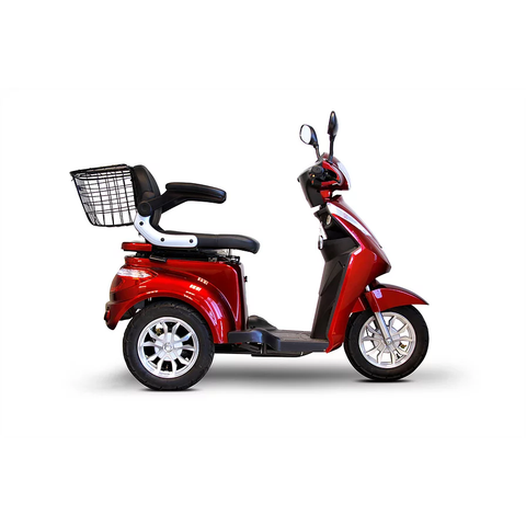 EWheels Mobility Scooters EW-38 / Red EWheels EW-38 Three Wheel Mobility Scooter