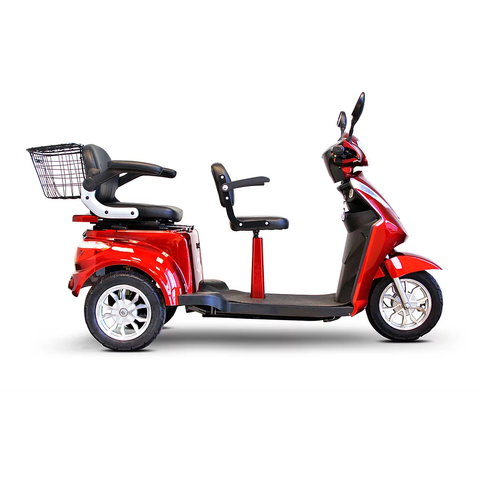 EWheels Mobility Scooters EW-66 / Red EWheels EW-66 Three Wheel Mobility Scooter