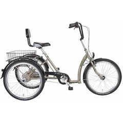 "PFIFF Electric Trikes In Stock PFIFF Comfort 24"" Ansmann Step-Through Electric Trike Bicycle"