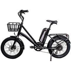 Revi Bikes Electric Bikes Black Revi Bikes Runabout Step-Thru Electric Bike