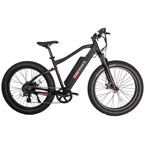 Revi Bikes Electric Bikes Matte Black Revi Bikes Predator Electric Mountain Bike