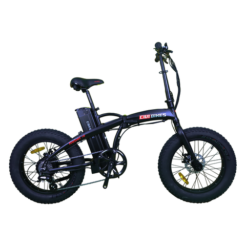 Revi Bikes Electric Bikes Matte Black Revi Bikes Rebel 1.0 Folding Fat Electric Bike