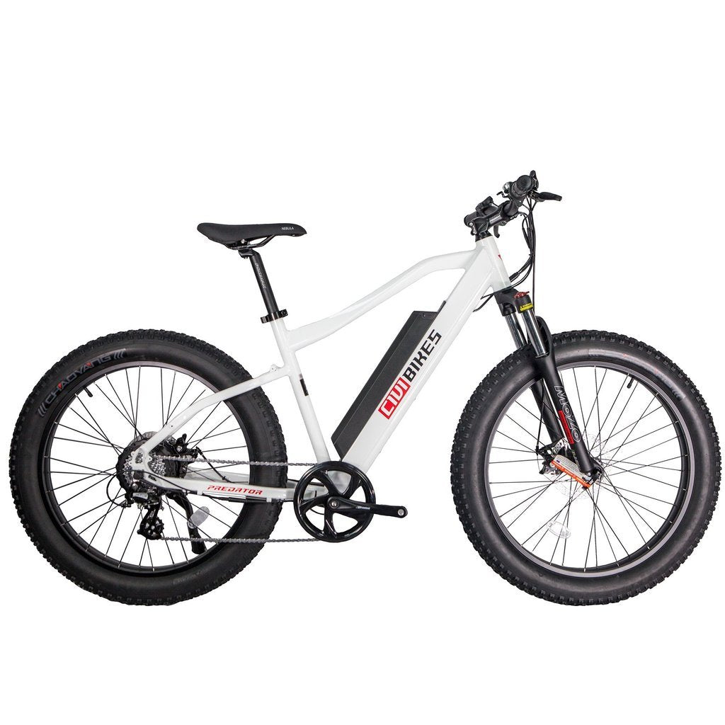 Revi Bikes Electric Bikes Pearl White Revi Bikes Predator Electric Mountain Bike