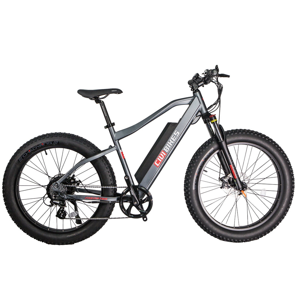 Revi Bikes Electric Bikes Platinum Gray Revi Bikes Predator Electric Mountain Bike