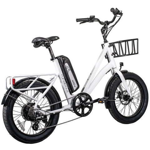 Revi Bikes Electric Bikes White Revi Bikes Runabout Step-Thru Electric Bike