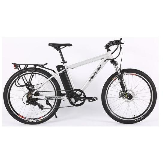 X-Treme Electric Bikes Aluminum X-Treme Trail Maker Elite Max 36 Volt Lithium Powered Electric Mountain Bike