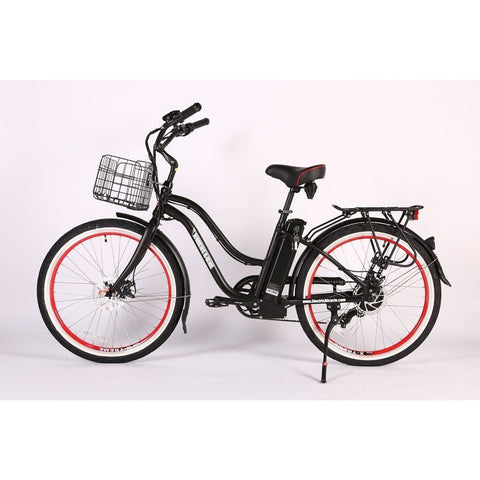 X-Treme Electric Bikes Black / Pre Order (Estimated Ship Date: 12 April 2021) X-Treme Malibu Elite Max 24 Volt Lithium Powered Electric Step-Through Beach Cruiser Bicycle