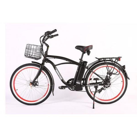 X-Treme Electric Bikes Black / Pre Order (Estimated Ship Date: 12 April 2021) X-Treme Newport Elite Max 36 Volt Lithium Powered Electric Beach Cruiser Bicycle