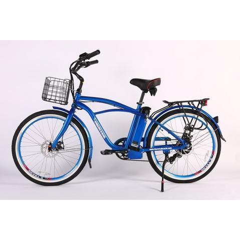 X-Treme Electric Bikes Metallic Blue / Pre Order (Estimated Ship Date: 12 April 2021) X-Treme Newport Elite Max 36 Volt Lithium Powered Electric Beach Cruiser Bicycle