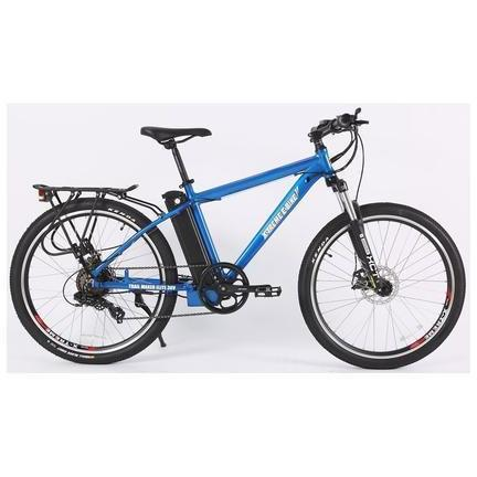 X-Treme Electric Bikes Metallic Blue X-Treme Trail Maker Elite Max 36 Volt Lithium Powered Electric Mountain Bike