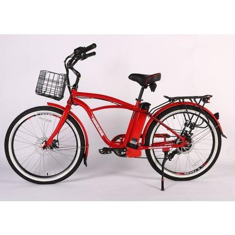 X-Treme Electric Bikes Metallic Red / Pre Order (Estimated Ship Date: 12 April 2021) X-Treme Newport Elite Max 36 Volt Lithium Powered Electric Beach Cruiser Bicycle