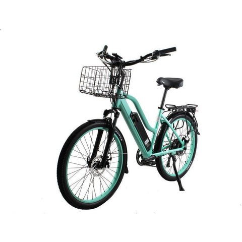 X-Treme Electric Bikes X-Treme Catalina 48 Volt Lithium Powered Electric Step-Through Beach Cruiser Bicycle