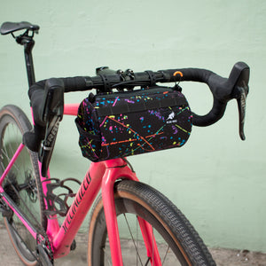 Wizard Works Lil Presto Barrel Bag on Bike