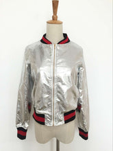 Load image into Gallery viewer, PU Faux Leather Short Baseball Jacket