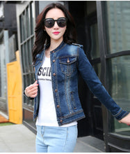 Load image into Gallery viewer, Denim Jackets Spring Autumn Long Sleeve Stand