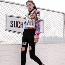 Load image into Gallery viewer, Punk Cropped Jacket with belt