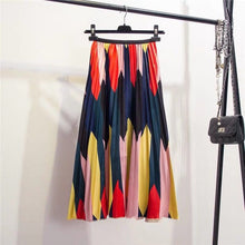 Load image into Gallery viewer, High Waist A-Line Pleated Skirt