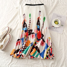 Load image into Gallery viewer, Long Skirt Cartoon Printed High Waist Skirt Loose Large Swing