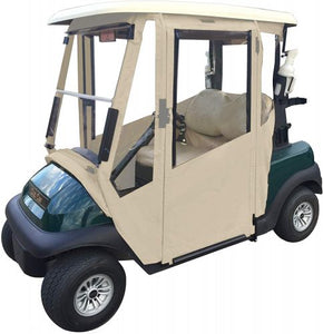Golf cart enclosures have a design to protect you as well as the cart from the Mother Nature and her never-ending elements