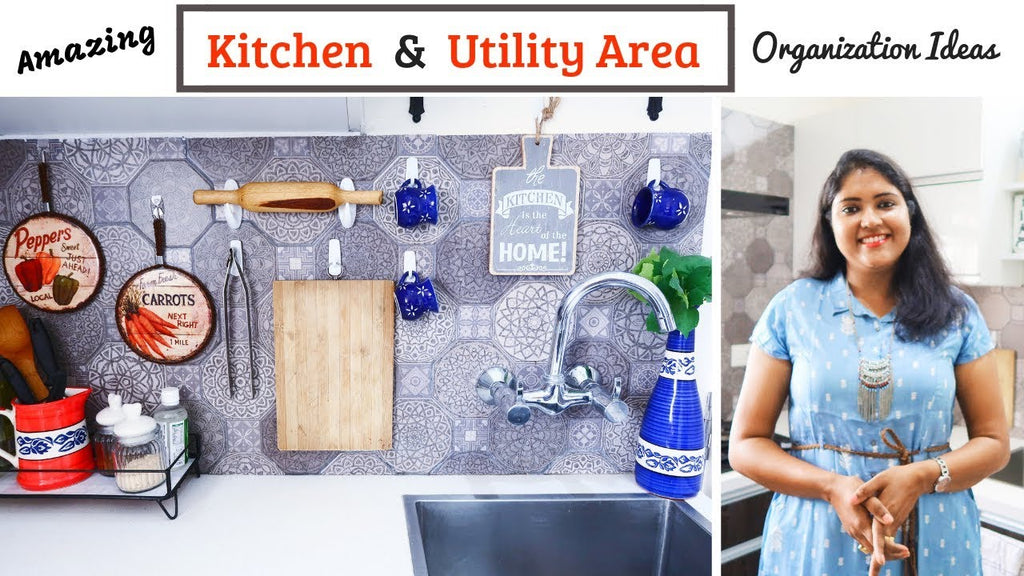 Amazing (Renter Friendly Too!) Kitchen & Utility Area Organization Ideas with Command Hooks