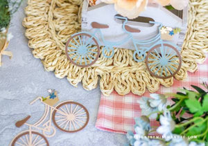 Spring Bicycle Die Cuts