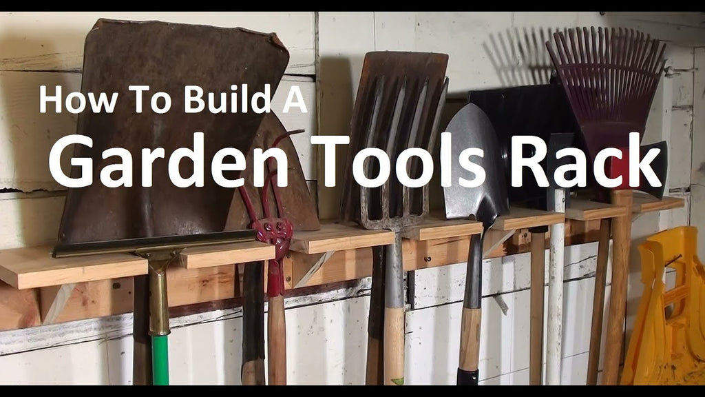 Easy shop project for home or school : build a garden tools shelf to organize your tool shed, garage or basement