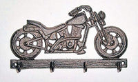 dist by classyjacs Old Vintage Motorcycle with 4 Hooks, 3D Scale Indoor or Outdoor use, Vintage Rustic Finish Wall Hung