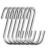 Tonilara Heavy-Duty S Shaped Hooks S-Hooks Stainless Steel Hanging Hangers for Kitchenware Spoons Pans Pots Utensils Bags Towels Clothes Tools Plants