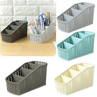 Gotian 4/5 Cells Storage Box Office Plastic Organizer Desktop Cosmetics Debris Case, Tie Bra Socks Drawer Cosmetic Divider (E)